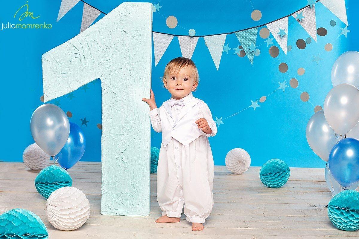 1 год мальчику фотосессия